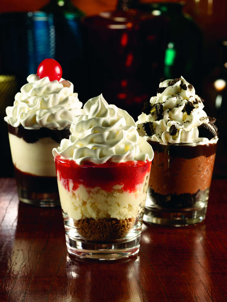 Applebee39;s Dessert Shooters  Mini desserts served in shot glasses