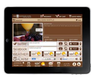 social Heathman Hotel iPad guest-services app