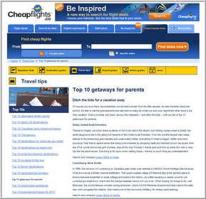 Cheapflights.ca Top 10 Parent Getaways