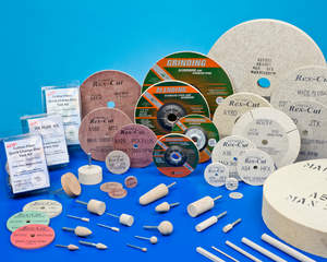 Rex-Cut cotton fiber abrasive products grind, debur, and finish in one step