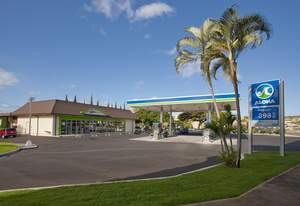 Designed by CBX, Aloha Petroleum's new prototype opened in the Kahala suburb of Honolulu in mid-June.
