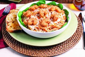 Popcorn Shrimp Spaghetti