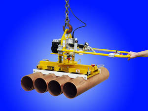 Vacuum lifter for heavy tube, pipe and cylindrical objects