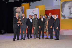 BrandSource receives the RMHC Stewardship Award on August 26, 2011.