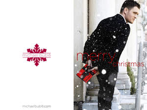 michael buble christmas greeting card set front