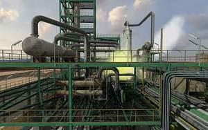IGCC gas leak training scenario displayed in virtual reality system.
