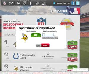Are the Minnesota Vikings going up or down? You decide, choose the value and make the trade.