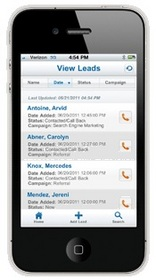 Leads360 for iPhone helps enterprise sales teams go mobile with sales automation crm