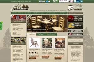 Exciting new look for Log Furniture Place is a result of working with WebProvise website design team