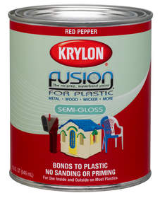 krylon introduces the first brush on paint for plastic. Black Bedroom Furniture Sets. Home Design Ideas