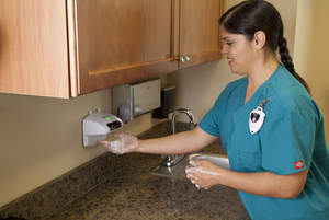 HyGreen hand hygiene and recording system