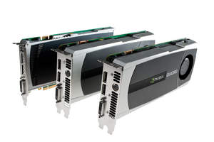 NVIDIA Quadro 4000, Quadro 5000, and Quadro 6000 professional graphics cards
