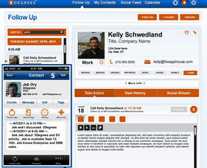 5Degrees iPhone and Web screen shot