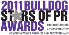 Bhava Communications is named New Agency of the Year: Gold Status by Bulldog Reporter in the 2011 Bulldog Stars of PR Awards.