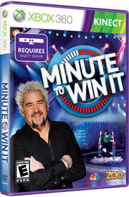 Minute to Win It for Xbox 360 Kinect video game box art
