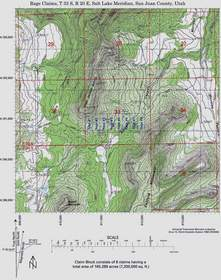 Colorado Goldfields Utah Uranium Claim Map