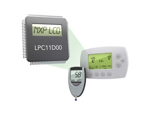 NXP LPC11D00 microcontroller with integrated segment LCD driver