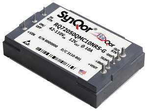 SynQor's RailQor line of DC-DC converters isolated dc power for the transportation industry