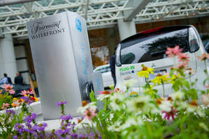 GE Electric Vehicle Charging Station at The Fairmont Waterfront