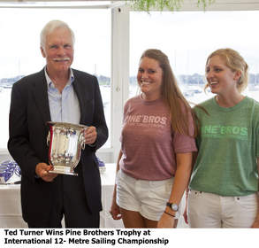 Ted Turner Wins Pine Brothers Trophy at International 12-Metre North American Sailing Championship