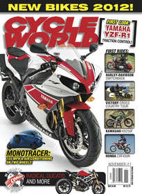 November 2011 cover of Cycle World magazine.