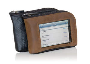 WaterField Designs iPhone Wallet in black or brown naturally-tanned leather