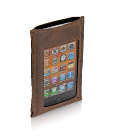 WaterField Designs iPhone Hint case in brown leather. Also available in black leather.