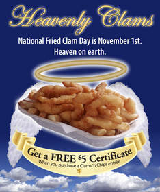 Ivar's Seafood Bar, National Deep Fried Clam Day