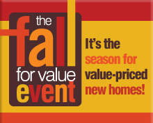 value-priced new homes, free appliances,
