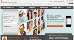 screenshot human touch website homepage