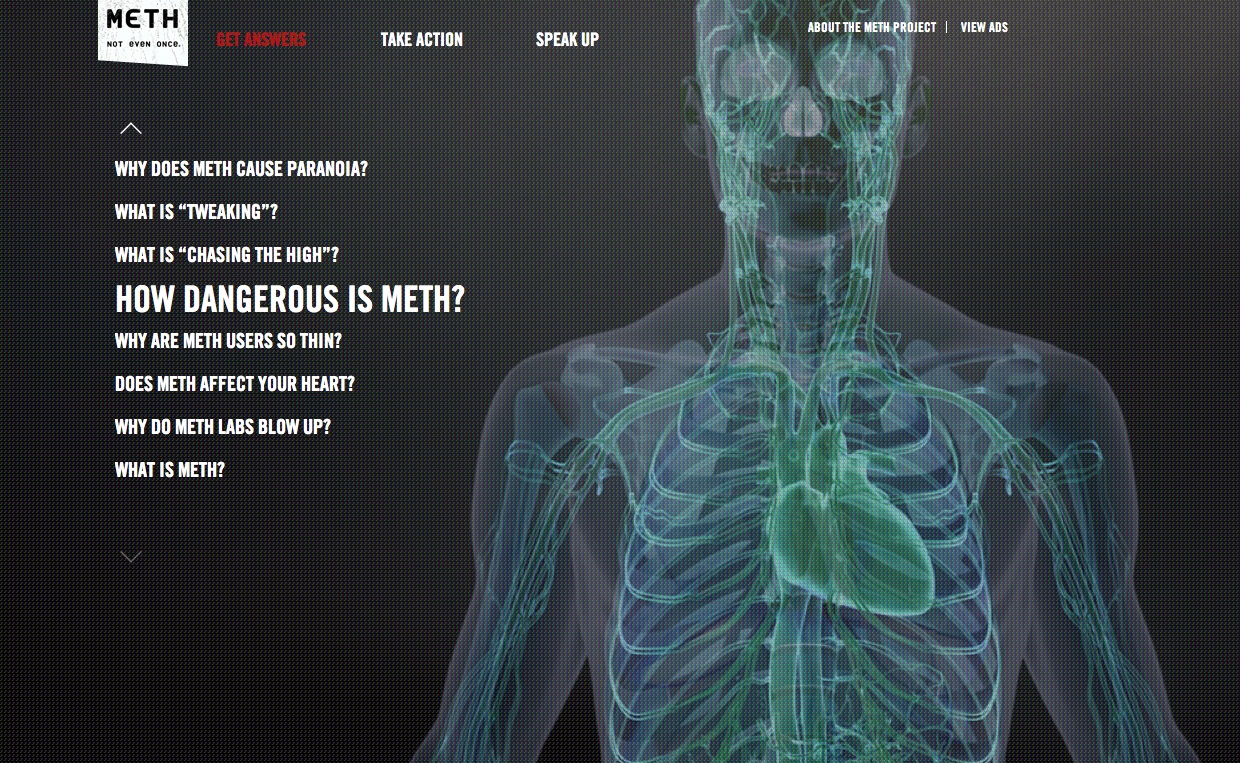 Organic Develops New Campaign for the Meth Project Empowering Teens