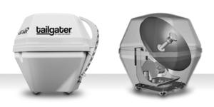 DISH portable satellite TV system