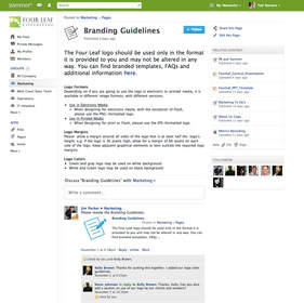 Yammer Pages