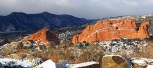 A wintry view from The Lodge at Garden of the Gods Club