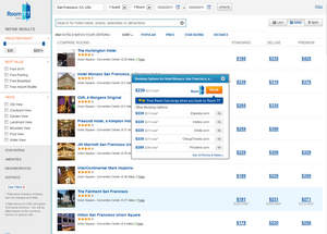 Room 77 allows travelers to search multiple room categories and book on a variety of sites -- Room 77 or a partner.