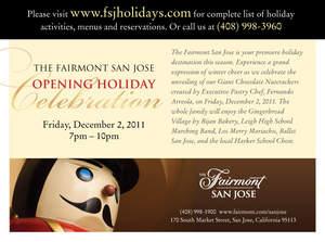 The Fairmont San Jose Opening Holiday Celebration