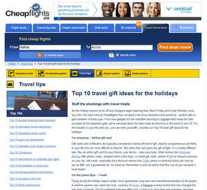 Cheapflights.ca's Top 10 Travel Gift Ideas for the Holidays