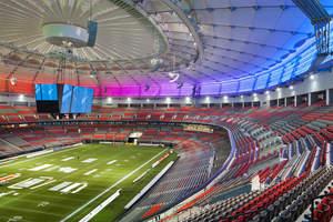 Lumenpulse, LEDs, BC Place Stadium, Vancouver, skyline