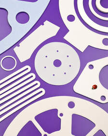 Interstate PTFE Gaskets are precision die-cut to customer specifications