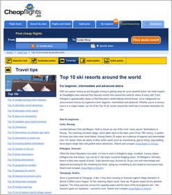 Cheapflights.ca Top 10 Ski Resorts Around the World