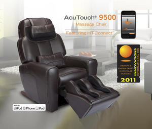 acutouch 9500, ht connect, ht-connect, iphone, ipad, ipod touch, massage chair