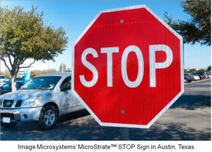 Image Microsystems' MicroStrate STOP sign