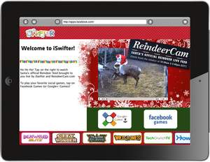 ReindeerCam - Santa's Official Reindeer Live Feed - Comes to iPad With iSwifter 3