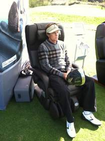 human touch, massage chair, bruce jenner, tee it up celebrity golf classic, wounded warriors project