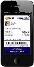 Finally a Secure Electronic Changing Barcode, on a Smartphone, Airline eTicket.
