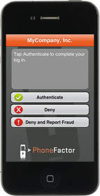 Authenticating with the PhoneFactor App