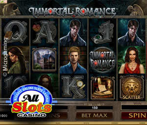 Immortal Romance at All Slots Online Casino