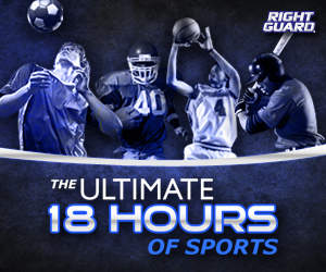 Right Guard, official sponsor of the NBA, launches Ultimate 18 Hours of Sports Facebook Contest
