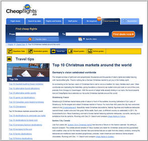 Cheapflights.ca's Top 10 Christmas Markets Around the World