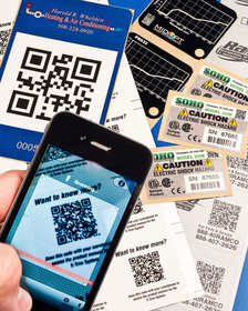 NFi QR Code Labels are fully integrated product I.D. labels
